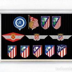Collectionnisme sportif: IMAN ACRILICO NEVERA - FUTBOL ATLETICO DE MADRID EVOLUCION ESCUDO. Lote 217651273