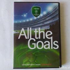 Coleccionismo deportivo: DVD, ALL THE GOALS. UEFA CHAMPION LEAGUE SEASON 2005-2006.. Lote 218152495