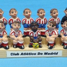 Colecionismo desportivo: EQUIPO DE FUTBOL - ATLÉTICO DE MADRID EN FIGURAS DE BARRO ALBOROX. Lote 218664408