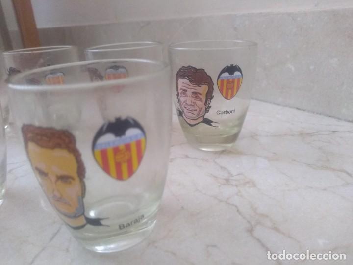 Coleccionismo deportivo: Colección antiguos vasos pequeños Valencia CF futbol - Foto 4 - 219419701