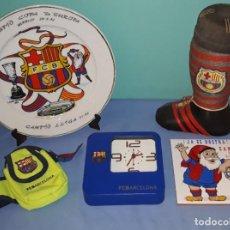 Collezionismo sportivo: LOTE VINTAGE DE ARTICULOS DEL FUTBOL CLUB BARCELONA BARÇA ORIGINAL. Lote 219489947