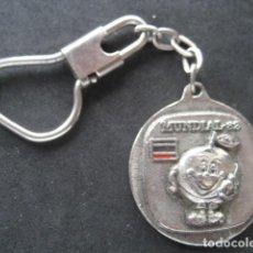 Coleccionismo deportivo: LLAVERO FUTBOL MUNDIAL ESPAÑA 82. NARANJITO. Lote 219586566