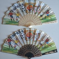 Coleccionismo deportivo: LOTE DE 2 ABANICOS DIFERENTES MUNDIAL 82 NARANJITO COMO NUEVOS. Lote 219621011
