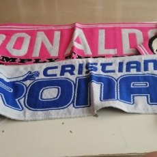 Coleccionismo deportivo: G-41 LOTE DE DOS BUFANDAS DE REAL MADRID CRISTIANO RONALDO VER FOTOS. Lote 219623253