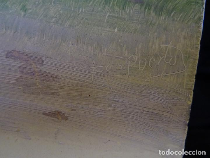 Coleccionismo deportivo: pintado al oleo y firmado.atletico madrid, años 1960.cromo futbol - Foto 5 - 221152338