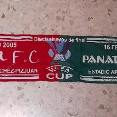Coleccionismo deportivo: BUFANDA DEL SEVILLA VS PANATHINAIKOS. Lote 221366283