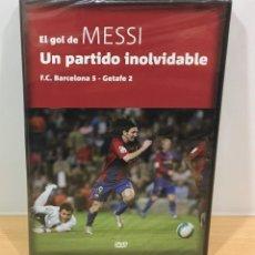 Coleccionismo deportivo: DVD FÚTBOL - FC BARCELONA VS GETAFE - EL GOL DE MESSI A LO MARADONA. PRECINTADO. Lote 221729123