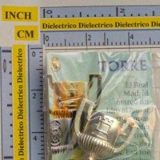 Coleccionismo deportivo: PIEZA DEL AJEDREZ DEL REAL MADRID CLUB DE FÚTBOL. TORRE. COLOR PLATA. PLATEADA. COPA DEL REY TROFEO. Lote 222289562