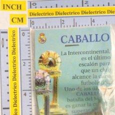 Coleccionismo deportivo: PIEZA DEL AJEDREZ DEL REAL MADRID CLUB DE FÚTBOL. CABALLO COLOR PLATA. PLATEADA COPA INTERCONTINENAL. Lote 222289673