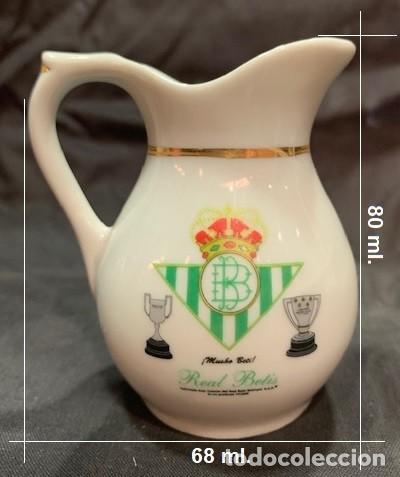 Coleccionismo deportivo: REAL BETIS JARRA MINI CLASICA DE PORCELANA CON EL ESCUDO DEL CLUB - Foto 4 - 222448978