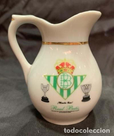 REAL BETIS JARRA MINI CLASICA DE PORCELANA CON EL ESCUDO DEL CLUB (Coleccionismo Deportivo - Merchandising y Mascotas - Futbol)