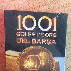 Coleccionismo deportivo: DVD 1001 GOLES DE ORO DEL BARÇA PRECINTADO - INCLUYE 4 DVD - MUNDO DEPORTIVO. Lote 222840813