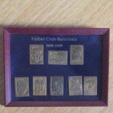 Coleccionismo deportivo: COLECCION DE 8 SELLOS METALICOS DEL FUTBOL CLUB BARCELONA 1899-1999. Lote 222842707