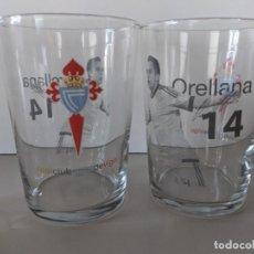 Coleccionismo deportivo: 2011-2012 REAL CLUB CELTA DE VIGO - ORELLANA - JUEGO 6 VASOS DE CRISTAL SIDRA A ESTRENAR. Lote 223220326