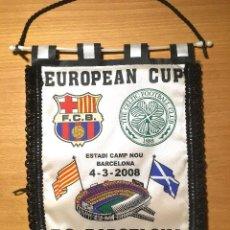 Collezionismo sportivo: FC BARCELONA. BANDERÍN. FCB-CELTIC 2008. 36X26 CM. Lote 223416453