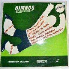 Coleccionismo deportivo: MUNDIAL MÉXICO 70. HIMNOS. 16 PAÍSES TORNEO COPA JULES RIMET. DOBLE LP. TELESISTEMA MEXICANO. RARO. Lote 223691488