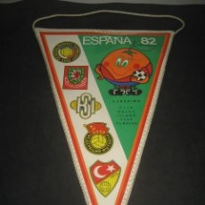 Coleccionismo deportivo: BANDERIN MUNDIAL DE FUTBOL ESPAÑA 1982. NARANJITO. Lote 224302013
