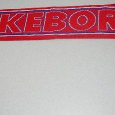 Collectionnisme sportif: BUFANDA FÚTBOL 2 CARAS FOOTBALL SCARF SILKEBORG I.F., DINAMARCA. Lote 224529598