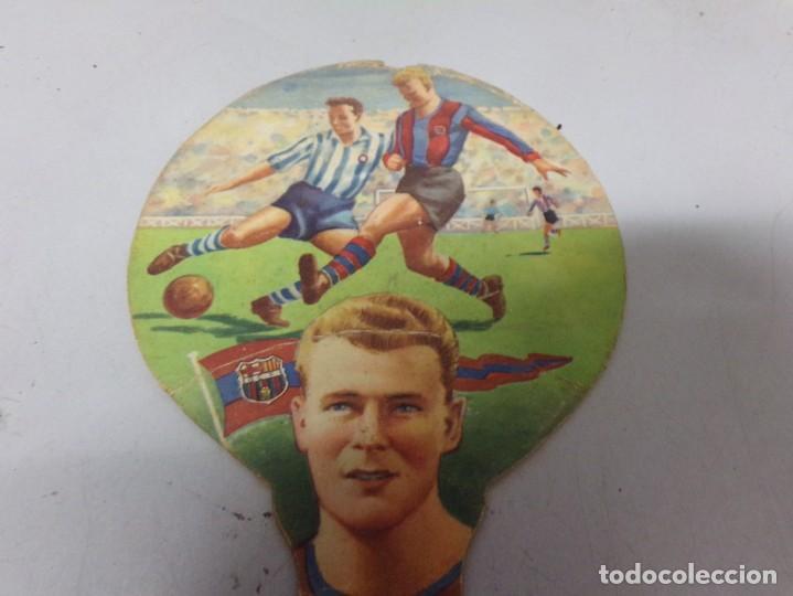 Coleccionismo deportivo: abanico carton pai pai kubala barcelona futbol publcidad lanas el rebaño - Foto 2 - 228187125