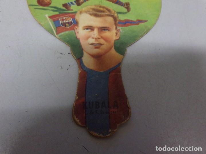 Coleccionismo deportivo: abanico carton pai pai kubala barcelona futbol publcidad lanas el rebaño - Foto 3 - 228187125
