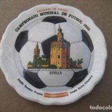 Coleccionismo deportivo: PLATITO PORCELANA. CAMPEONATO MUNDIAL DE FUTBOL ESPAÑA 82. SEVILLA. Lote 229383115