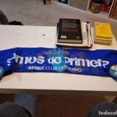 Colecionismo desportivo: G-59 BUFANDA DE FUTBOL DE XEREZ DEPORTIVO SOMOS DE PRIMERA. Lote 229922005