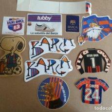 Coleccionismo deportivo: FUTBOL CLUB BARCELONA LOTE 11 ADHESIVOS PEGATINAS ORIGINALES. Lote 230214260
