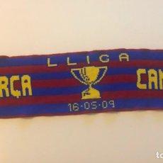 Collectionnisme sportif: BUFANDA BARÇA CAMPIÓ FC BARCELONA TRIPLET TRIPLETE 2009 LLIGA COPA CHAMPIONS LANA DOBLE CARA. Lote 231955280