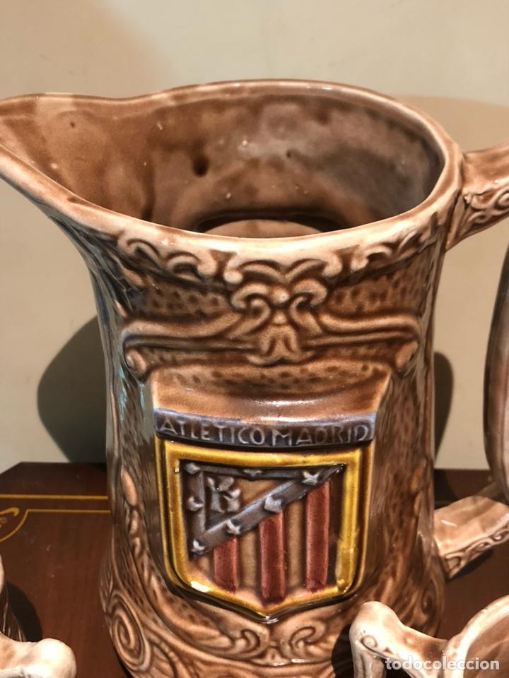 Coleccionismo deportivo: Bonito juego en cerámica y jarras Atlético de madrid - Foto 3 - 234134480
