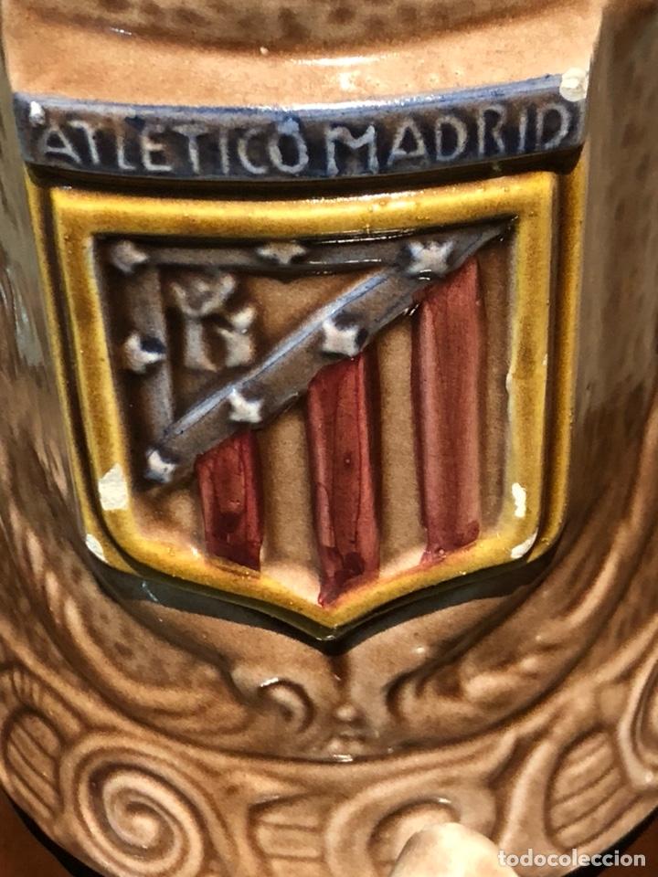 Coleccionismo deportivo: Bonito juego en cerámica y jarras Atlético de madrid - Foto 5 - 234134480