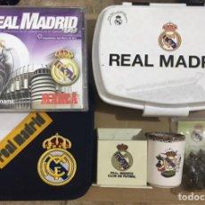 Coleccionismo deportivo: LOTE 6 OBJETOS DEL REAL MADRID PIEZAS AJEDREZ PEON LATON PEON REINA LATON REY FUTBOL VASO CHUPITO CD. Lote 234998180