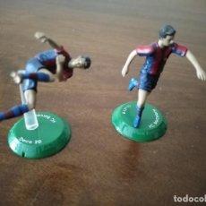 Collezionismo sportivo: PAREJA DE FIGIRAS GIULY Y DECO. F. C. BARCELONA. NANO FTCHAMPS.. Lote 240679210