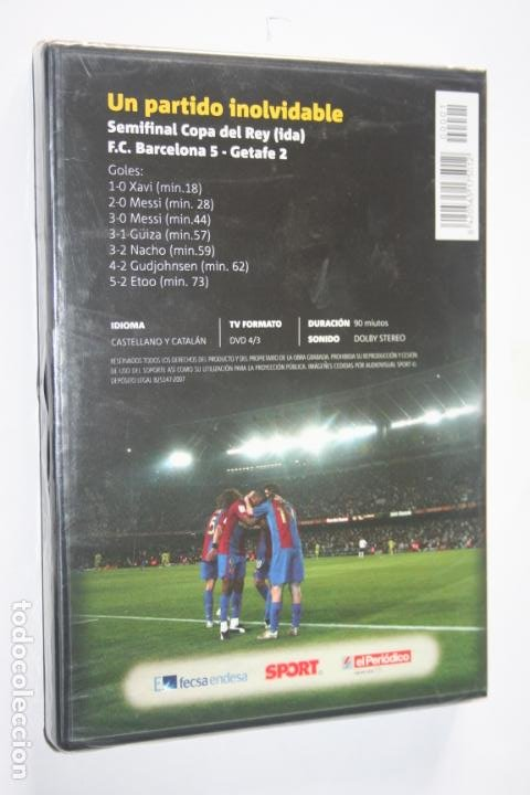 Coleccionismo deportivo: EL GOL DE MESSI : UN PARTIDO INOLVIDABLE * DVD DEPORTIVO (FUTBOL) * PRECINTADO - Foto 2 - 241117370