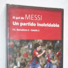Coleccionismo deportivo: EL GOL DE MESSI : UN PARTIDO INOLVIDABLE * DVD DEPORTIVO (FUTBOL) * PRECINTADO. Lote 241117370