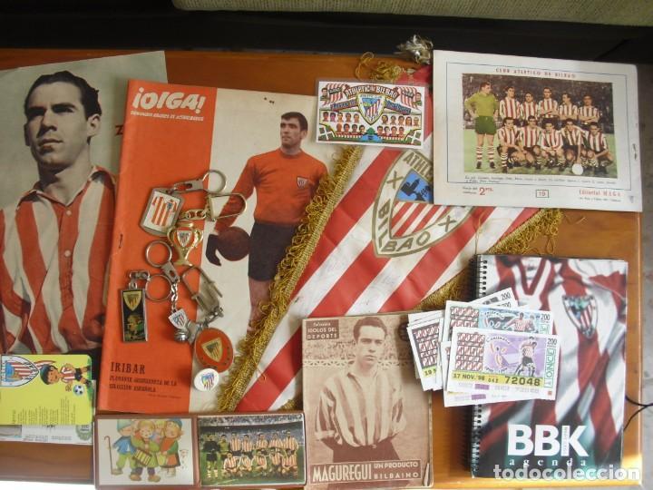 BONITO LOTE DEL ATHLETIC CLUB DE BILBAO DE VARIAS EPOCAS -VER DESCRIPCION Y FOTOS- (Coleccionismo Deportivo - Merchandising y Mascotas - Futbol)