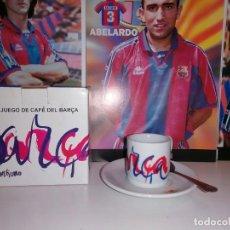 Coleccionismo deportivo: 1998,TAZA CAFE + PLATO + CUCHARILLA . CONMEMORATIVAS CENTENARIO BARÇA .(VER DESCRIPCION ). Lote 241296325