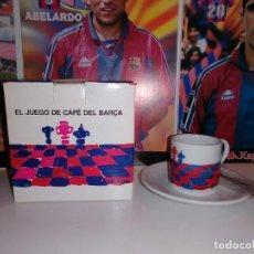 Coleccionismo deportivo: 1998,TAZA CAFE + PLATO + CUCHARILLA . CONMEMORATIVAS CENTENARIO BARÇA .(VER DESCRIPCION ). Lote 241296470