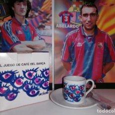 Coleccionismo deportivo: 1998,TAZA CAFE + PLATO + CUCHARILLA . CONMEMORATIVAS CENTENARIO BARÇA .(VER DESCRIPCION ). Lote 241296740