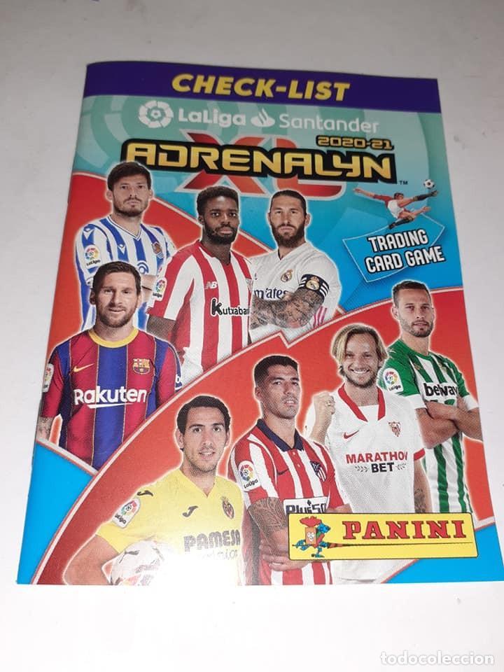 CHECK-LIST ADRENALYN XL 2020/21, EDITORIAL PANINI, NUEVO, SIN ESTRENAR Y EN PERFECTO ESTADO (Coleccionismo Deportivo - Merchandising y Mascotas - Futbol)