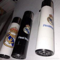 Colecionismo desportivo: 3 MECHEROS REAL MADRID, MARCA CLIPPER, NUEVOS, SIN ESTRENAR. Lote 243484035