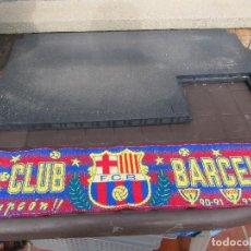 Coleccionismo deportivo: BUFANDA OFICIAL FUTBOL CLUB BARCELONA TETRACAMPEON 90-91 / 91-92 / 92-93 / 93-94. Lote 244193965