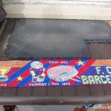 Coleccionismo deportivo: BUFANDA OFICIAL FÚTBOL CLUB BARCELONA. CAMPEÓN DE EUROPA, UEFA, RECOPA, LIGA.. Lote 244194790