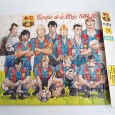 Coleccionismo deportivo: PUZZLE FCB FUTBOL CLUB BARCELONA - CAMPIO DE LA LLIGA 1984-85 - PERFECTO ESTADO. Lote 242558180