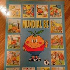 Coleccionismo deportivo: POSTER NARANJITO ESPAÑA 82 MUNDIAL DE FUTBOL MASCOTA FUTBOL EN ACCION. Lote 270945173