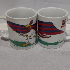 Coleccionismo deportivo: 2 TAZAS F.C. BARCELONA. VER FOTOS.. Lote 245275815