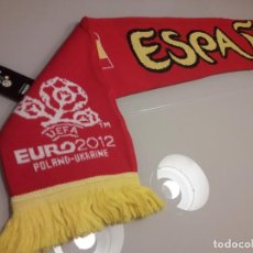 Coleccionismo deportivo: BUFANDA UEFA EURO 2012 EUROCOPA FINAL ESPAÑA CAMPEONES 2008 2020 MUNDIAL. Lote 246366435