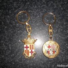 Coleccionismo deportivo: LOTE 2 LLAVEROS (FC BARCELONA Y CIUDAD DE BARCELONA). Lote 248221950