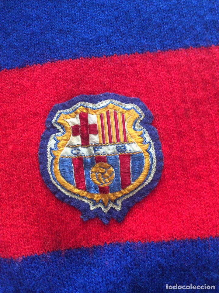 Coleccionismo deportivo: MUY ANTIGUA BUFANDA F.C. BARCELONA AÑOS 40/50 O ANTERIOR (RARA) - Foto 2 - 249320400
