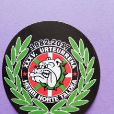 Collezionismo sportivo: PEGATINA ULTRAS ATHLETIC BILBAO HERRI NORTE 35 ANIVERSARIO. Lote 252103810