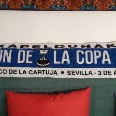 Collectionnisme sportif: -BUFANDA SCARF FUTBOL REAL SOCIEDAD CAMPEON DE LA COPA DEL REY 19-20 -- NUEVA A ESTRENAR --. Lote 254835835